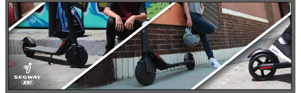 Roll over image to zoom in Segway Ninebot ES1 Folding Electric Kick Scooter